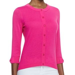 Kate Spade Somerset Cardigan Pink Bow Sweater